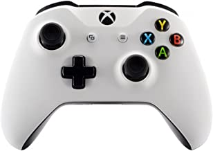 eXtremeRate Soft Touch Grip White Front Housing Shell Faceplate for Microsoft Xbox One X & One S Controller