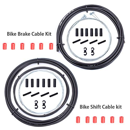 Wolfride Universal Bike Bicycle Brake Cable and Housing Set, Basic Brake Cable Replacement Kit for Moutain Bike Road Bike Common Bike