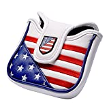 COOLSKY Golf Mallet Putter Head Cover Square USA Flag Magnetic Closure Design Patriot Headcover