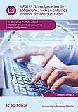 Implantación de aplicaciones web en entornos internet, intranet y extranet. IFCD0210 (Spanish Edition)