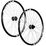 Taylor-Wheels 26 Pouces Ensemble Roues vélos Mach1 MX Disc Shimano 6 Trous Noir