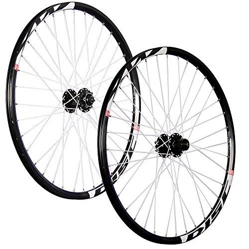Taylor-Wheels 26 Zoll Laufradsatz (Vorderrad + Hinterrad) Mach1 MX Disc Shimano M475 6 Loch schwarz