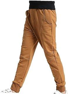 linjunddd Niños Pantalones Sweatpants Deportes Pantalones Joggers Harem Informal con Cordón Brown 140 Cm Artículos De Interés