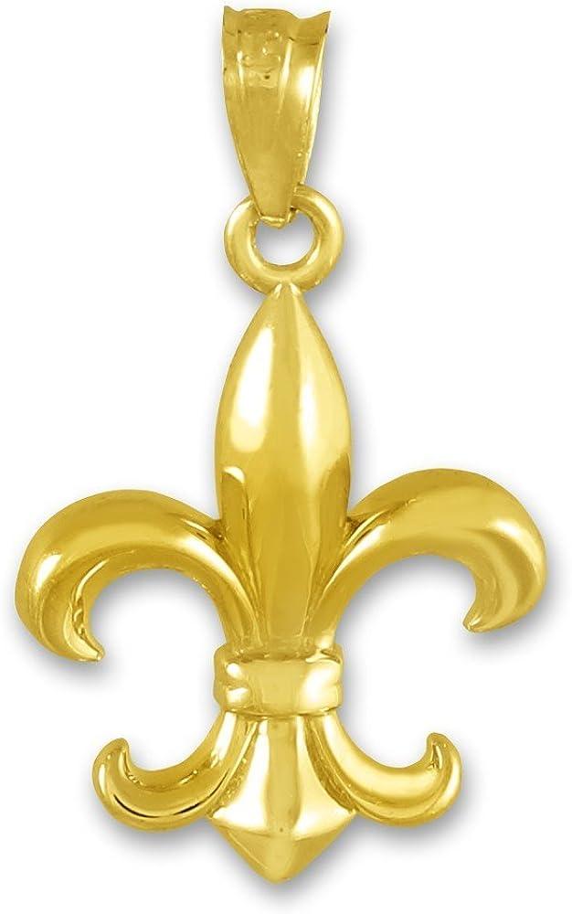 Gorgeous Religious Cheap sale Jewelry by FDJ 10K Gold Pend Fleur-de-Lis Yellow Charm