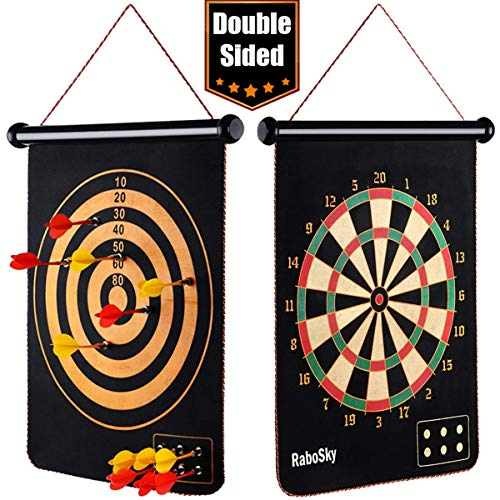 Great Features Of Rabosky Magnetic Dart Board for Kids, Safe Indoor Dart Game Toy for Age 5 6 7 8 9 ...