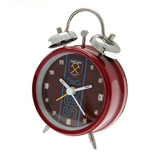 West Ham Utd United FC Claret Blue Alarm Clock Bell Football Fan Gift Boxed Official