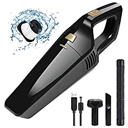 【PORTABLE WIRELESS CIRCULATOR】 - With this portable wireless vacuum cleaner, you can move freely from room to room without disturbing a cable. It is a light and ergonomically shaped flat-bottomed handle that allows easy gliding when cleaning the plan...