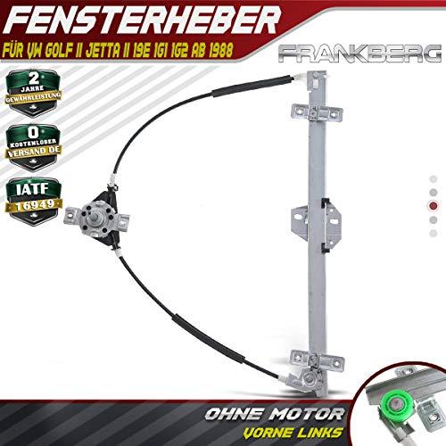 Frankberg Fensterheber Ohne Motor Vorne Links für Golf II Jetta II 19E 1G1 19E 1G2 165 1983-1992 191837401B