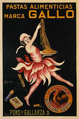 Pastas Alimenticias Marca Gallo - Vintage Spanish Advertising Poster Reproduction (18 x 24)