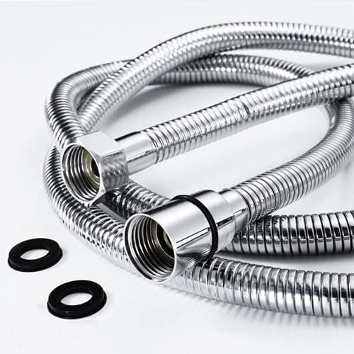 COFEDON Flessibile Doccia,Tubo Doccia 1.5M a Molla in Acciaio Inossidabile con 2 Guarnizioni,Interfaccia Universale Standard (G1/2),Adatto a Tutti i Soffione Doccia