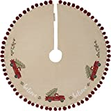 Primitives by Kathy Embroidered Tree Skirt, Believe-Truck