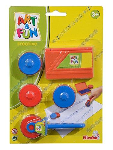 Simba 106314253 Art and Fun Stempelroller, 2-sort. Stempelset, Mehrfarbig