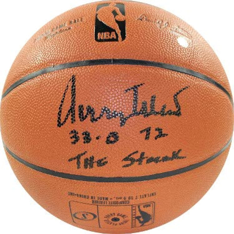 Jerry West signed Spalding NBA Indoor Outdoor Basketball 320, 72, The Streak Steiner Hologram (Los Angeles Lakers)