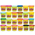 Play-Doh Modeling Compound 24-Pack Case of Colors, Non-Toxic, Multi-Color, 3-Ounce Cans, Ages 2 and up, Multicolor (Amazon Exclusive) from Hasbro