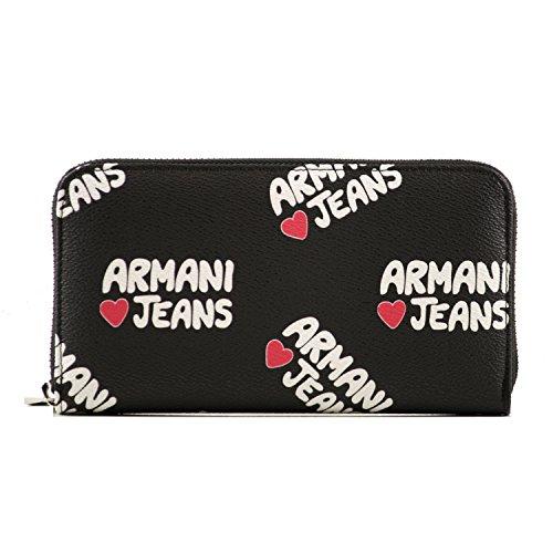 Armani Jeans Geldbörse Geldbeutel Portemonnaie im Geschenkbox 9280327P schwarz