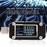 Probador de control de calidad de doble tipo C Detector de banco de potencia 1 Uds Monitor de amplificador USB PD Tester para precisión de la corriente con cable para resistencia(K001C)