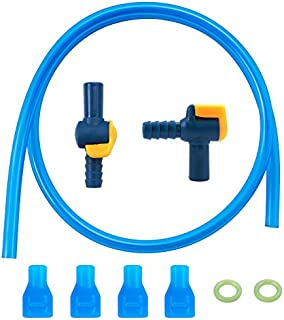 Bite Valve Replacement Mouthpiece Cover for Hydration Pack Bladder(4 PACK),1PCS 90 Degree and 1PCS Straight Shutoff with O-ring and Tube fo Water Backpack,Fit for Most Brands