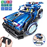 STEM Toys Gift for Boys & Girls Age 6yr-14yr, 2-in-1 Remote Control Car Building Kits, Christmas Birthday Engineering Learning Set for Kids 6,7,8,9+ Year Old (443pcs)