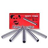 Escobar Accessoires 5 pailles a Sniffer renifleurs de 60 mm en Acier Inoxydable très hygiénique pour Tabac à Priser