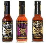 Psycho Juice Set Regalo - collezione Ghost Pepper - 3 salse piccanti estreme...