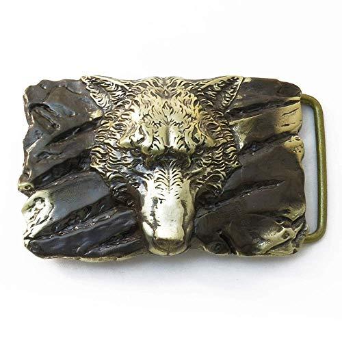 Belt buckle Fenrir Wolf, Handmade Old Norse Scandinavian viking mithology werewolf solid brass belt buckle