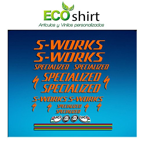 Ecoshirt JC-KLIL-6TIK stickers S Works Specialized Sticker Decals Sticker R84 oranje