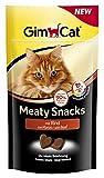 GimCat Meaty Snacks Rind - Softer Katzensnack mit hohem Fleischanteil, Vitaminen und Taurin - 1 Beutel (1 x 35...