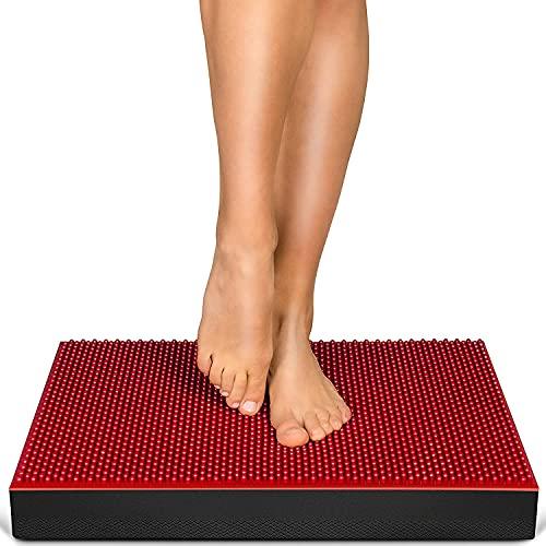 MesseNeuheit 2021! 2in1 Balance Pad + Akupressur Noppen, XXL Balancekissen für Ihr Gleichgewicht & Förderung der Durchblutung. Rehabilitation,Physio & exzellentes Training! BPX100 - inkl. Übungsposter