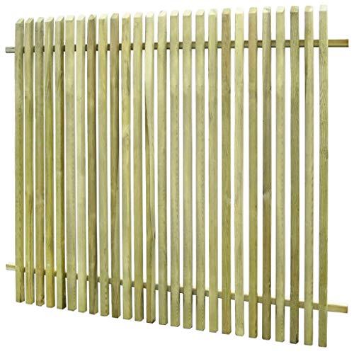 Festnight Gartenzaun Holzzaun Lattenzaun Terrassenzaun Zaun aus Imprägniertes Kiefernholz 170 x 150 cm für Garten Hof oder Terrasse