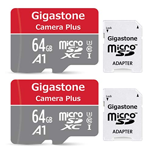 Gigastone 64GB 2-Pack Micro SD Card, Gaming Plus, Nintendo Switch Compatible, High Speed 90MB/s, 4K Video Recording, Micro SDXC UHS-I A1 Class 10