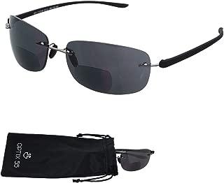 Rimless Bifocal Reading Sunglasses - Lightweight
