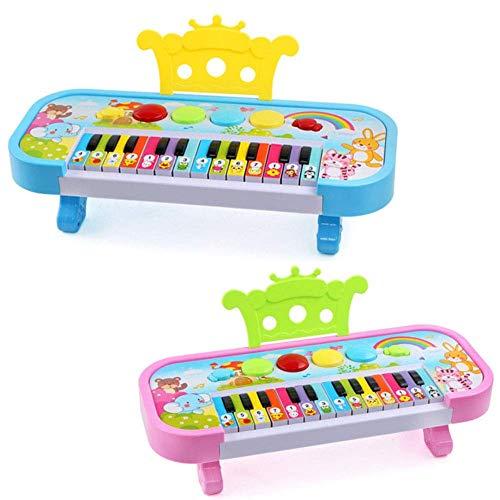 Dirgee Elektronisches Klavier Pädagogisches Spielzeug Kinder 24 Musik Keyboard Geschenk Früherer Lernen Spielzeug Musikinstrument Zufällige Farbe (Farbe: Zufällige Farbe) (Color : Random Color)