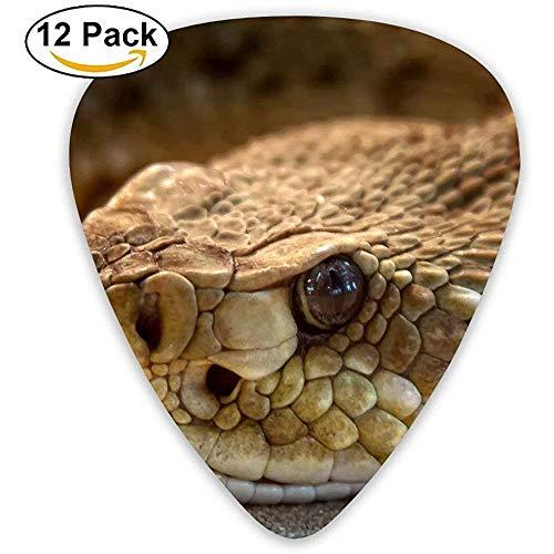 Sherly Yard Snake Viper Púas de guitarra personalizadas para el mejor obturador acústico eléctrico (12pack)
