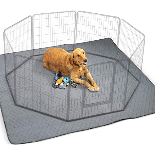 Waterproof XXL Puppy Whelping Pad 72'x72' - Our Washable Super Absorption Pee Pad is Perfect for Your Exercise Playpen Or Whelping Box - The Durable Non Slip Floor Mat for Dogs