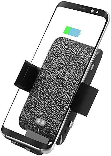 RTYUIO Cargador de Coche inalámbrico rápido, Qi 10W Inducción Inteligente Sujeción automática Control de Voz Inteligente Soporte para teléfono Compatible con iPhone XS/XR/X / 8 Samsung S10 / S9 / S8