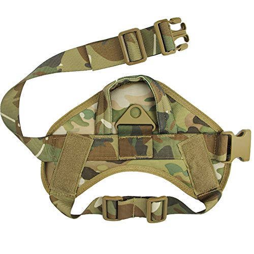 ZHOUHUAW Tactical Dog Harness, Mit Patches Pouches Handle, Tactical Service Hundeweste Military K9 Working Escape-Proof Verstellbare Hundeweste,6,L