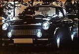 Samarkand-Lights LED-Bild mit Beleuchtung LED- Bilder Leinwandbild 65 x 45 cm Leuchtbild Auto DDR TRABI Wandbild