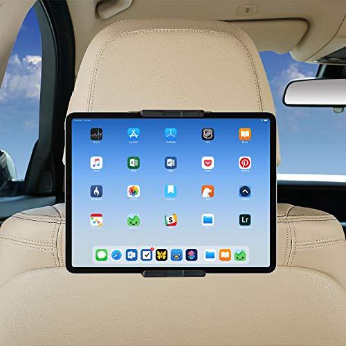 SUNHOME Soporte universal para reposacabezas de coche, soporte de tableta de velcro de rotación de 360 grados para asiento trasero de coche, compatible con 5 a 10.5 pulgadas