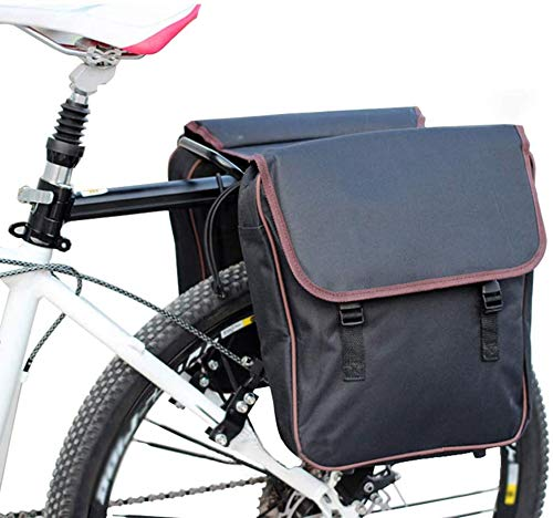 HWBB Bolsa de Bicicleta Alforjas de Bicicleta Bolsas de sillín Impermeables para Bastidor Trasero Bolsillos Grandes Portaequipajes de Maletero MTB Alforja Asiento Trasero Bicicleta de Ciclismo