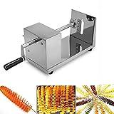 Iglobalbuy Affettatrice di patate in acciaio inox manuale ricci patatine fritte a spirale Twister Cutter macchina