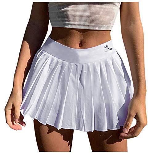 Rock Damen Winter Röcke, Frauen Mädchen Kurze Hohe Taille Gefaltete Tennis Schule Rock