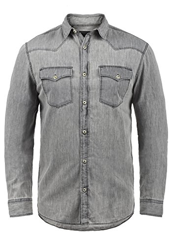 Produkt Paulus - Camisa de Jeans para Hombres, tamaño:XL, Color:Light Grey Denim