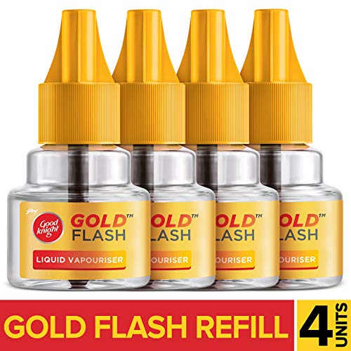 Good knight Gold Flash - Mosquito Repellent Refill, 45ml Each (Pack of 4)