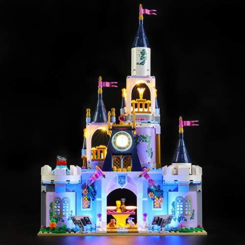 LIGHTAILING Conjunto de Luces (Princesas Disney Castillo de Ensueño de Cenicienta) Modelo de Construcción de Bloques - Kit de luz LED Compatible con Lego 41154 (NO Incluido en el Modelo)