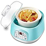 KTDT Estofado de Cocina eléctrica, Olla de cocción Lenta multifunción 0.7L Máquina de Cocina doméstica con función de Reserva y función de Mantener Caliente, 120W, Azul