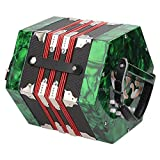 Acordeón de botones, profesional, fácil de aprender a tocar, duradero, cómodo de llevar para ejercicios de entrenamiento(Verde)