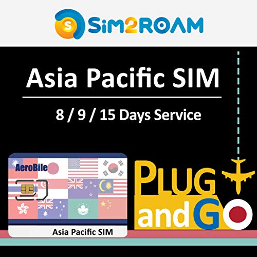 Asia Pacific 15 Days Unlimited Prepaid Data SIM Card, Japan, China, Hong Kong, US, Australia, New Zealand, Macao, Taiwan, Singapore, Malaysia, Korea, Thailand