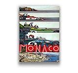 ZJYWYCN Poster Grand Prix Super Rennwagen Retro Monaco Race