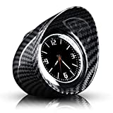 Auto Quarz Uhr Interior Kohlefaser Armaturenbrett Runde Quarzuhr Fahrzeug Clock Universal Zeit Datum Display Dekoration