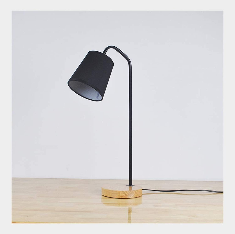 A-ZHP & Tisch-Nachttischlampen Tischlampe kreative minimalistische Moderne Schlafzimmer Nachttischlampe Leselicht (Farbe   Schwarz)
